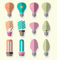 bulb logo icons set vector image vector image