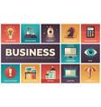 business - set flat design infographics vector image vector image