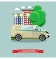 collector and bank car vector image vector image