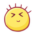 colored emoticons icon smiley eyes screwed up vector image vector image