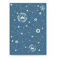 concept cover social media network vector image vector image