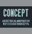 condensed inline font typeface alphabet original vector image vector image