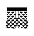 contour nice boxer textile fashion design vector image