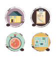 fast delivery set icons travel ilustration vector image vector image