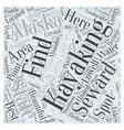 Finding the Best Kayaking in Seward Alaska Word vector image vector image