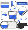 flag krakow poland vector image
