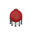 gas storage tank isolated on white background vector image vector image