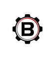 gear solution logo letter b vector image vector image