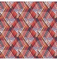 Geometric pattern with striped triangles vector image vector image