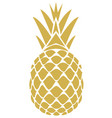 golden pineapple vector image vector image