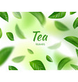 green leaves background flowing natural vector image