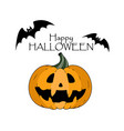 happy halloween concept bats pumkin with scary vector image vector image