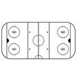 hockey arena white and black background i vector image