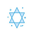 jewish icon design vector image