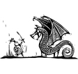 Knight and Dragon vector image vector image