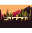 Landscape forest flat design vector image