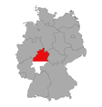 Map of Germany with flag of Hesse vector image vector image