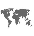map of the world halftone silhouette vector image vector image