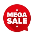 Mega Sale sticker vector image vector image