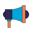 megaphone speaker on white background vector image