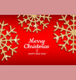 merry christmas and happy new year holiday invite vector image