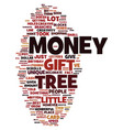 money tree text background word cloud concept vector image vector image