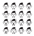 Monkey Emoticons set Monochrome vector image vector image