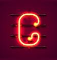 neon font letter g art design signboard vector image vector image