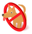 no dog icon isometric 3d style vector image vector image