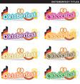 Oktoberfest titles vector image vector image