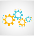 orange and blue gear teamwork concept element vector image vector image