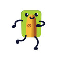 pencil sharpener flat icon funny green school vector image vector image