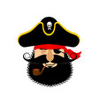 pirate sleeping emoji head filibuster asleep vector image