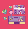 pixel art concept vector image vector image