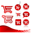Red shopping cart design kit vector | Price: 1 Credit (USD $1)