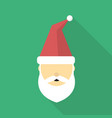 santa clause icon set of great flat icons with vector image vector image