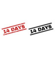 scratched textured and clean 14 days stamp prints vector image vector image