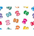 seamless colorful car pattern vector image