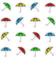 Seamless pattern of colorful umbrellas background vector image vector image