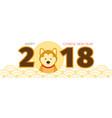 shiba inu dog chinese new year 2018 vector image vector image