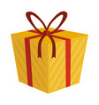 shopping gift box vector image vector image