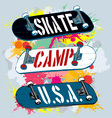 skate camp vector image vector image