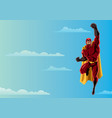 superhero flying 2 sky vector image vector image