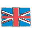 united kingdom flag icon vector image vector image