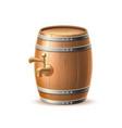 vecot realistic 3d wooden keg oak barrel brewery vector image