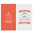 wedding invitation card save date vector image