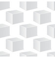 white cube mockup 3d template seamless pattern vector image vector image