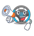 with megaphone steering wheel isolated in the vector image vector image
