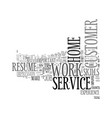 work at home customer service text word cloud vector image vector image