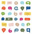 colorful speech bubble vector image